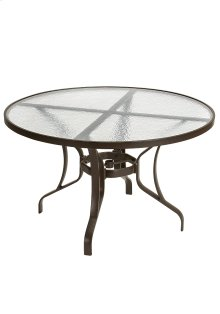 "Obscure Glass 48"" Round KD Dining Table"
