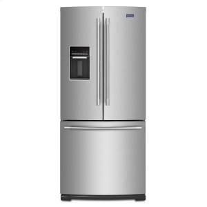 Maytag30-Inch Wide French Door Refrigerator with Exterior Water Dispenser- 20 Cu. Ft.