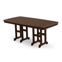 """Mahogany Nautical 37"""" x 72"""" Dining Table"""