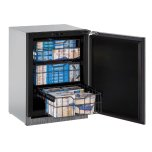"u-lineModular 3000 Series 24"" Freezer With Integrated Solid Finish and Field Reversible Door Swing"