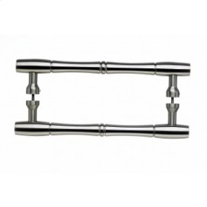 Nouveau Bamboo Door Pull Back to Back 8 Inch (c-c) - Brushed Satin Nickel