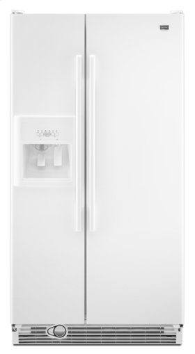White Maytag® Side-By-Side Refrigerator with Store-N-Door® Ice System