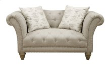 Emerald Home Hutton II Loveseat Nailhead W- 2 Pillows Natural U3164-01-09