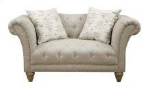 Emerald Home Hutton II Loveseat Nailhead W- 2 Pillows Natural U3164-01-09