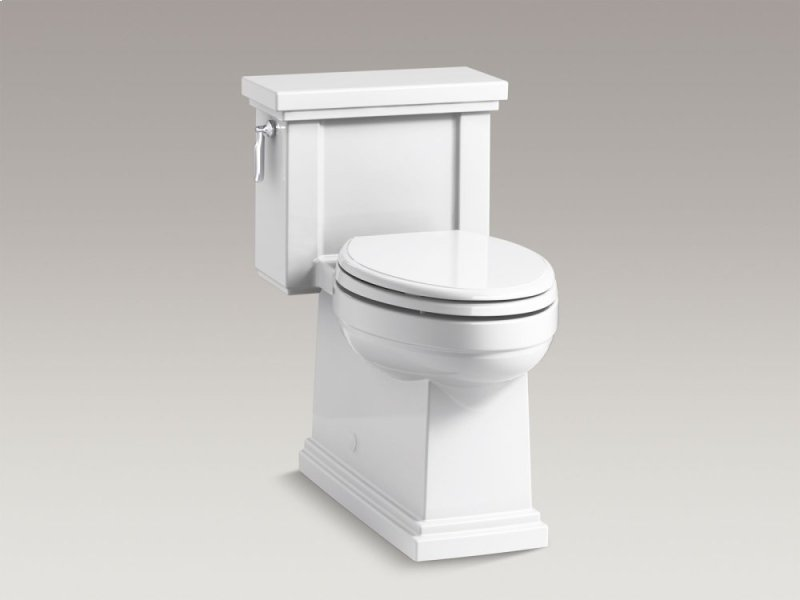 White Comfort Height One Piece Compact Elongated 1 28 Gpf Toilet With Aquapiston Flush Technology