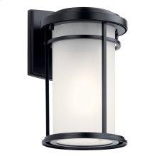 "Toman 10.25"" 1 Light Wall Light Black"