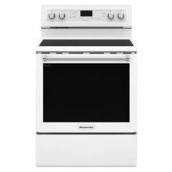 KitchenAid® 30-Inch 5-Element Electric Convection Range - White