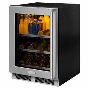 Marvel24-In Professional Built-In Beverage Center with Door Style - Stainless Steel Frame Glass, Door Swing - Left