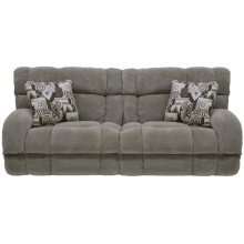 "Power ""Lay Flat"" Recl Sofa - Wine"