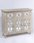 3 Drawer 3 Door Accent Chest-weathered Wood Finish W/mirror Accent Su Product Image