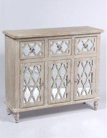 3 Drawer 3 Door Dresser-weathered Wood Finish W/mirror Accent Su