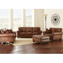 "Silverado Sofa, 91""x41""x38"" w/ Two Accent Pillows"