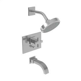 Flat Black Balanced Pressure Tub & Shower Trim Set