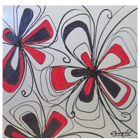 """Art """"Happy Flowers"""""""