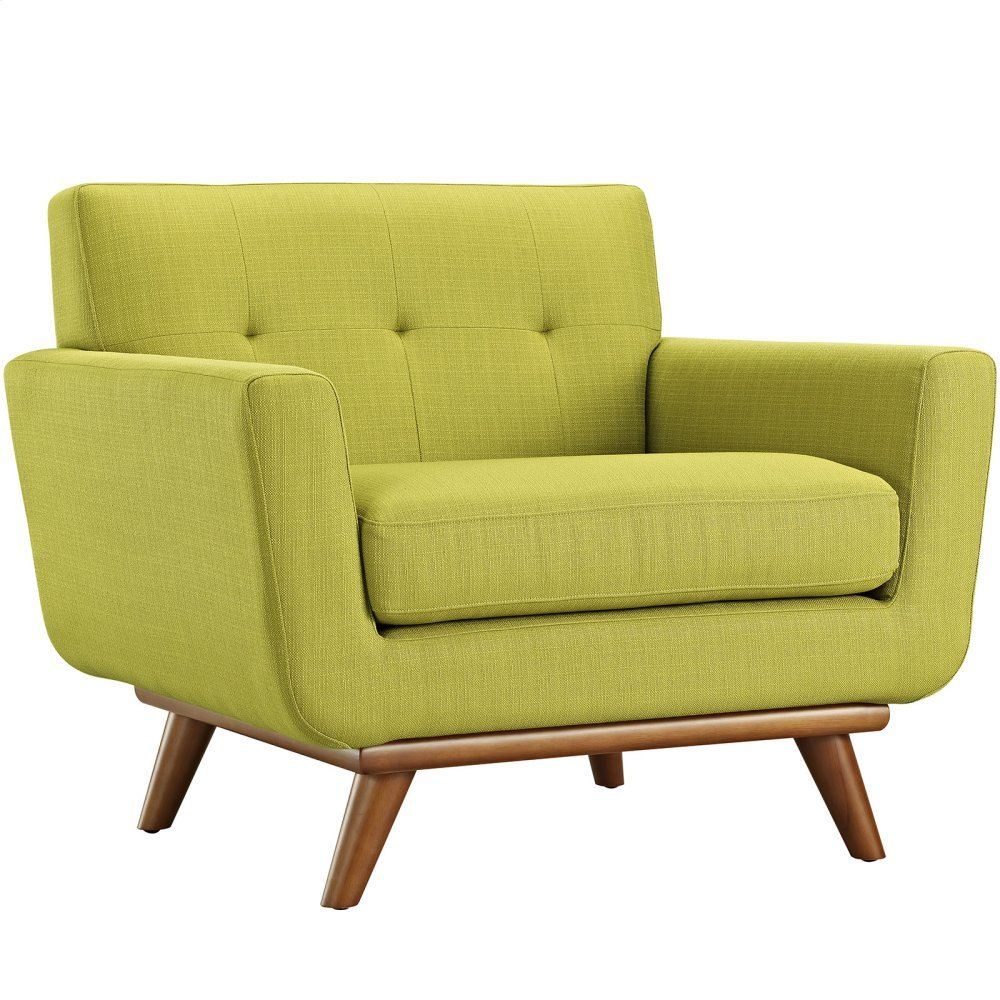 Engage Upholstered Fabric Armchair in Wheatgrass