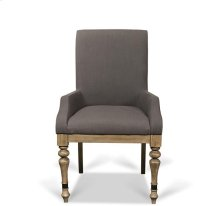 Corinne Upholstered Arm Chair Sun-drenched Acacia finish