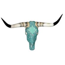 Turq Ceramic Jeweled Head