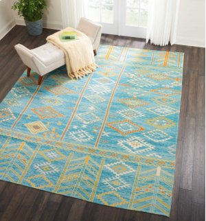 Madera Mad05 Sky Blue Rectangle Rug 3'6'' X 5'6''