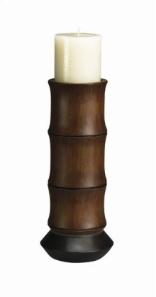 Bamboo candle holder (candle included)