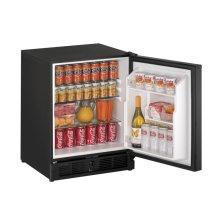 "CLOSEOUT ITEM : 21"" ADA Solid Door Refrigerator Black Solid Field Reversible"
