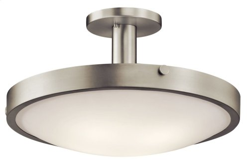 Lytham 4 Light Semi Flush Brushed Nickel