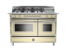 Matt-cream 48 6-Burner, Gas Double Oven