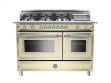 Matt-cream 48 6-Burner, Gas Double Oven