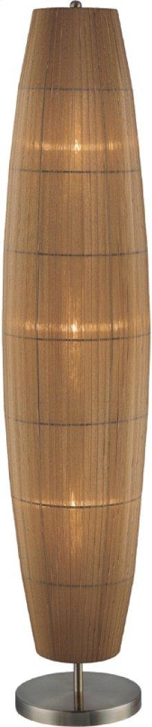 Floor Lamp, Ab/amber Organza Shade, E12 Type B 60wx3