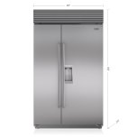 "SUB-ZERO48"" Classic Side-by-Side Refrigerator/Freezer with Dispenser"