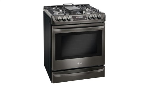 LG Black Stainless Steel Series 6.3 cu. ft. Gas Slide-in Range with ProBake Convection® and EasyClean®