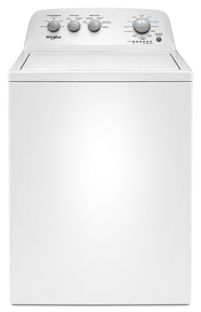 3.8 cu. ft. Top Load Washer with Soaking Cycles, 12 Cycles  WHITE