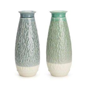 Zeph Textured Ceramic Vases - Ast 2