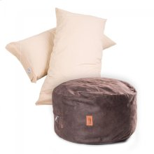 Pillow Pod Footstools - Faux Leather - Coffee
