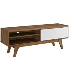 "Envision 44"" TV Stand in Walnut White Product Image"