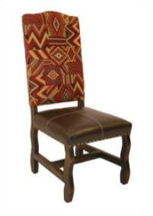 Medio Laquer Cloth & Leather Arm Chair