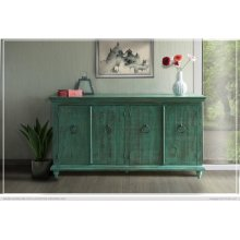Console w/4 Doors, Green finish