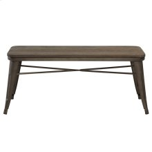 Modus Backless Double Bench in Gunmetal