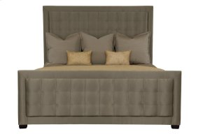 King-Sized Jet Set Upholstered Panel Bed in Caviar (356)