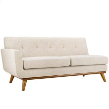 Engage Right-Arm Upholstered Fabric Loveseat in Beige