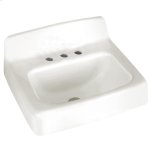 """American StandardRegalyn 20"""" x 18"""" Cast Iron Wall Mounted Sink - White"""