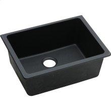 "Elkay Quartz Classic 24-5/8"" x 18-1/2"" x 9-1/2"", Single Bowl Undermount Sink, Black"