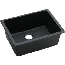"Elkay Quartz Classic 24-5/8"" x 18-1/2"" x 9-1/2"", Single Bowl Undermount Sink, Black"
