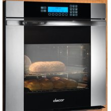 "Discovery 27"" Millennia Single Wall Oven, in Stainless Steel with Horizontal Black Glass"
