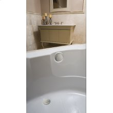 """TurnControl Bath Waste and Overflow A dazzling turn Brass - ForeverShine PVD brushed nickel Material - Finish 17"""" - 24"""" Tub Depth* 27"""" Cable Length"""