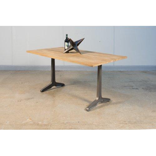 Metal Pedestal Dining Table