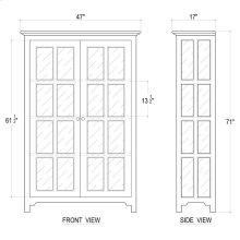 Aries Glass Door Bookcase