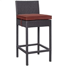Convene Outdoor Patio Fabric Bar Stool in Espresso Currant Product Image