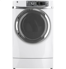 GE® 8.3 cu. ft. capacity RightHeight Design Front Load electric dryer with steam***FLOOR MODEL CLOSEOUT PRICE***