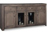 Contempo Sideboard w/2 Wood Doors &2/Center Glass Door &4/Dwrs & 2/Wood & Glass Adjust. Product Image