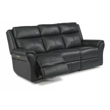 Pike Leather Power Reclining Sofa with Power Headrests